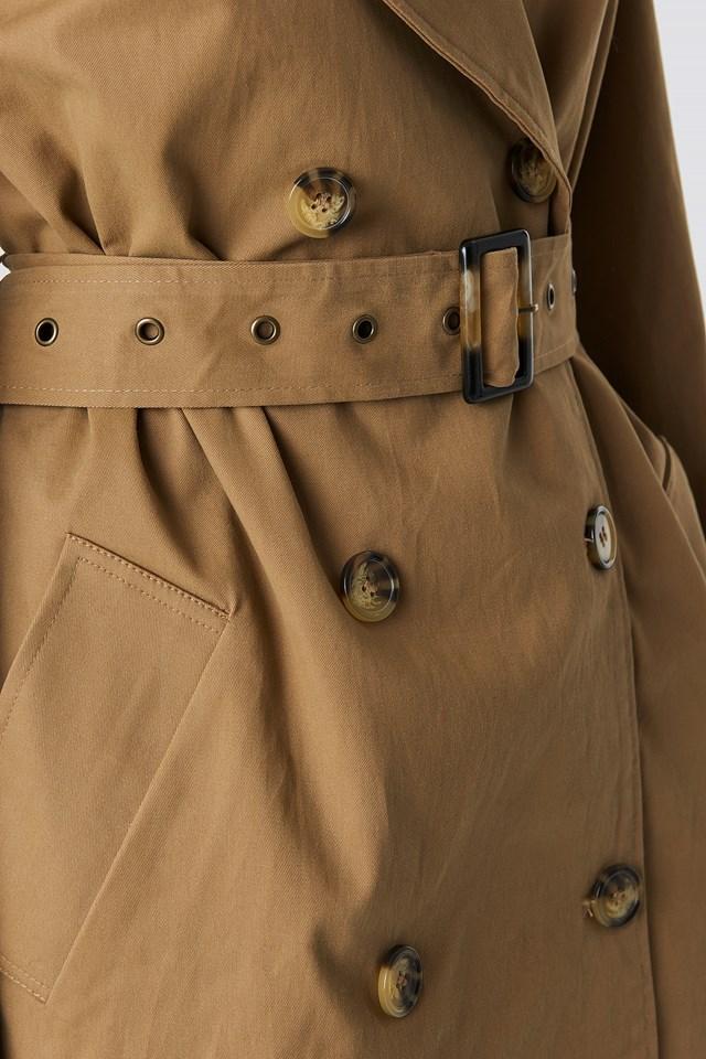 Beige Oversized Trenchcoat Beige