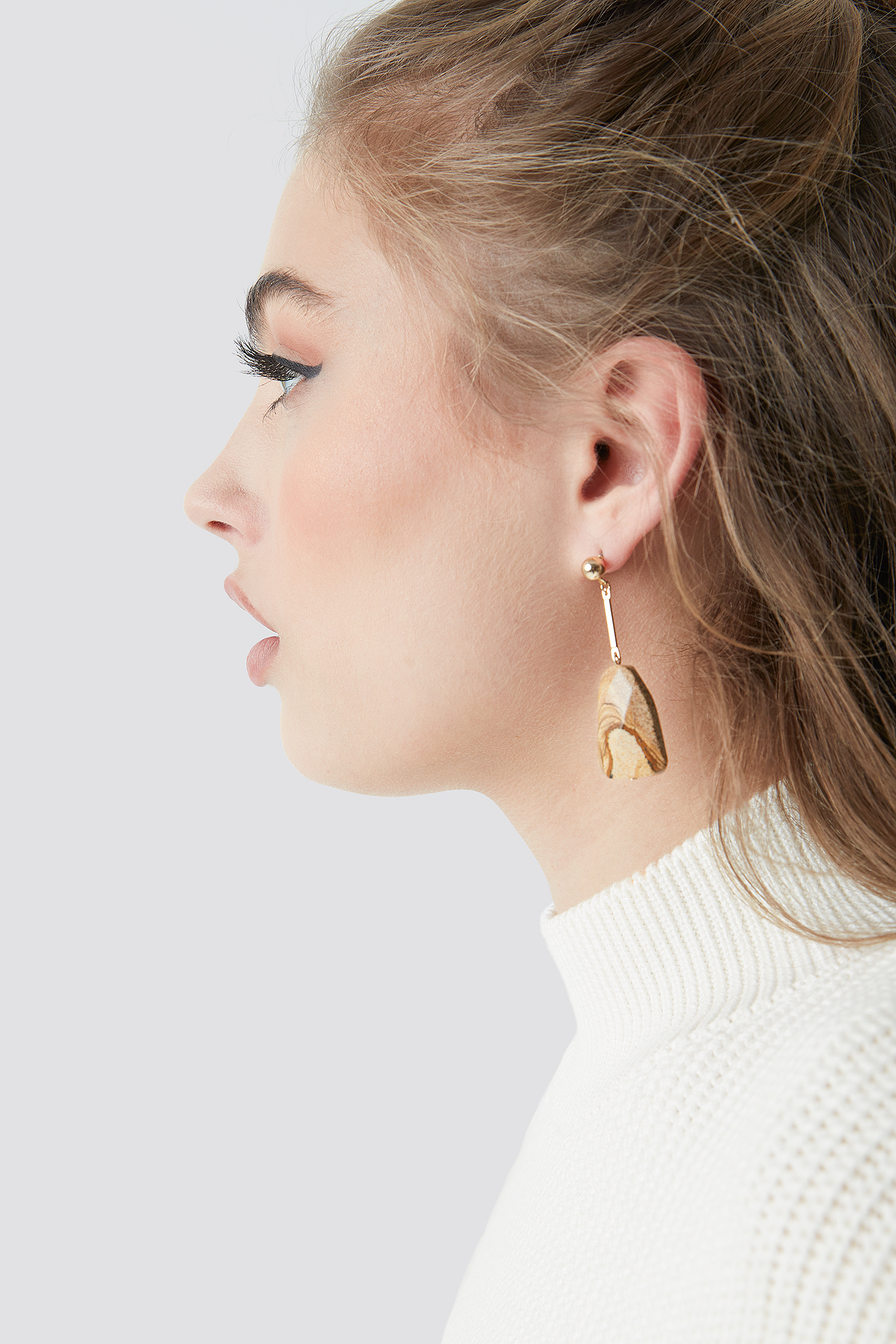 Beige Stone Earrings NA-KD.COM