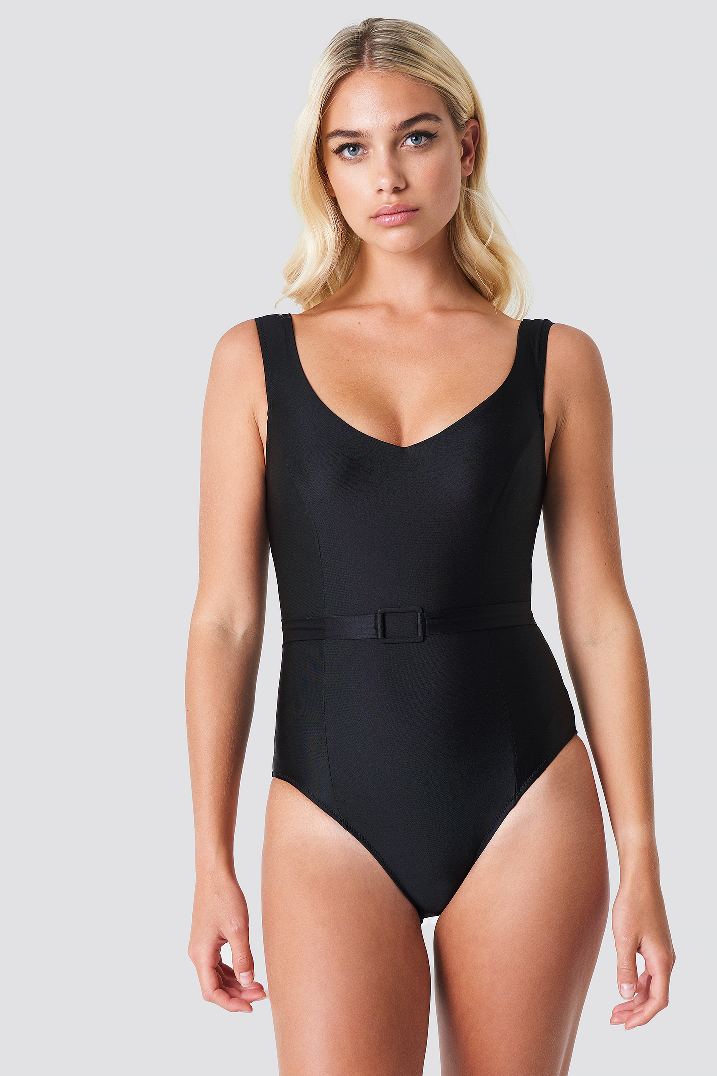 Belt Detailed Swimsuit NA-KD.COM