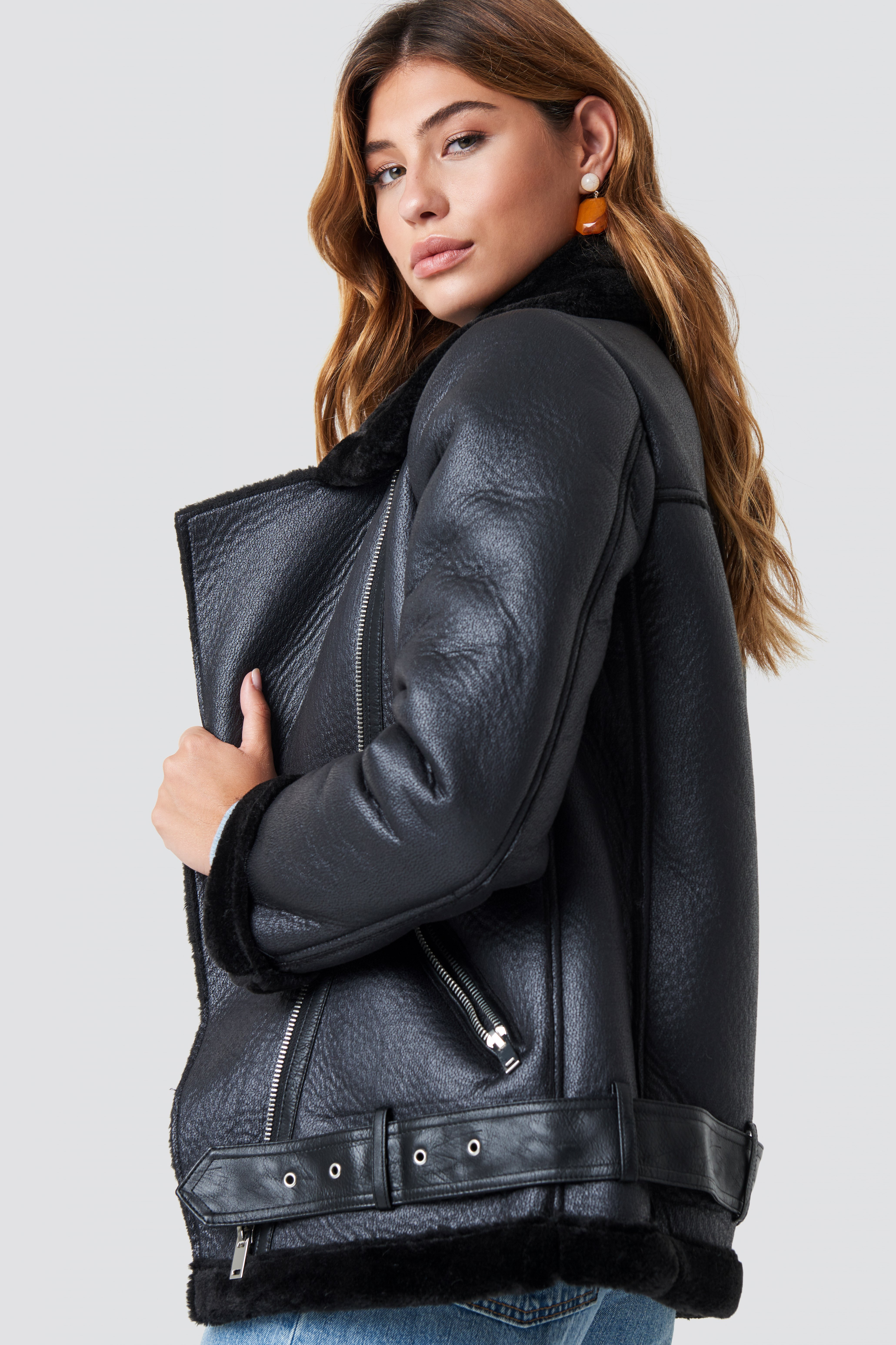 Belted Aviator Jacket NA-KD.COM