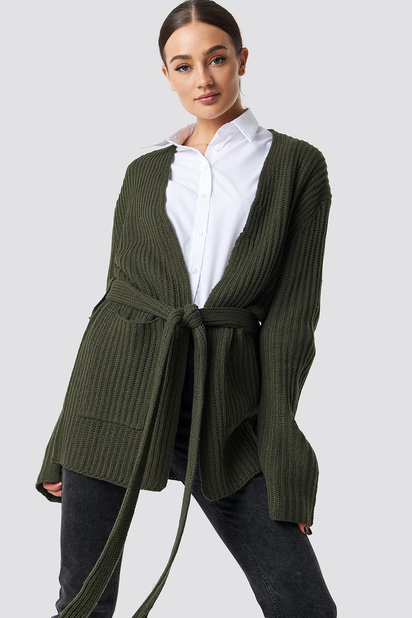 Belted Cardigan NA-KD.COM