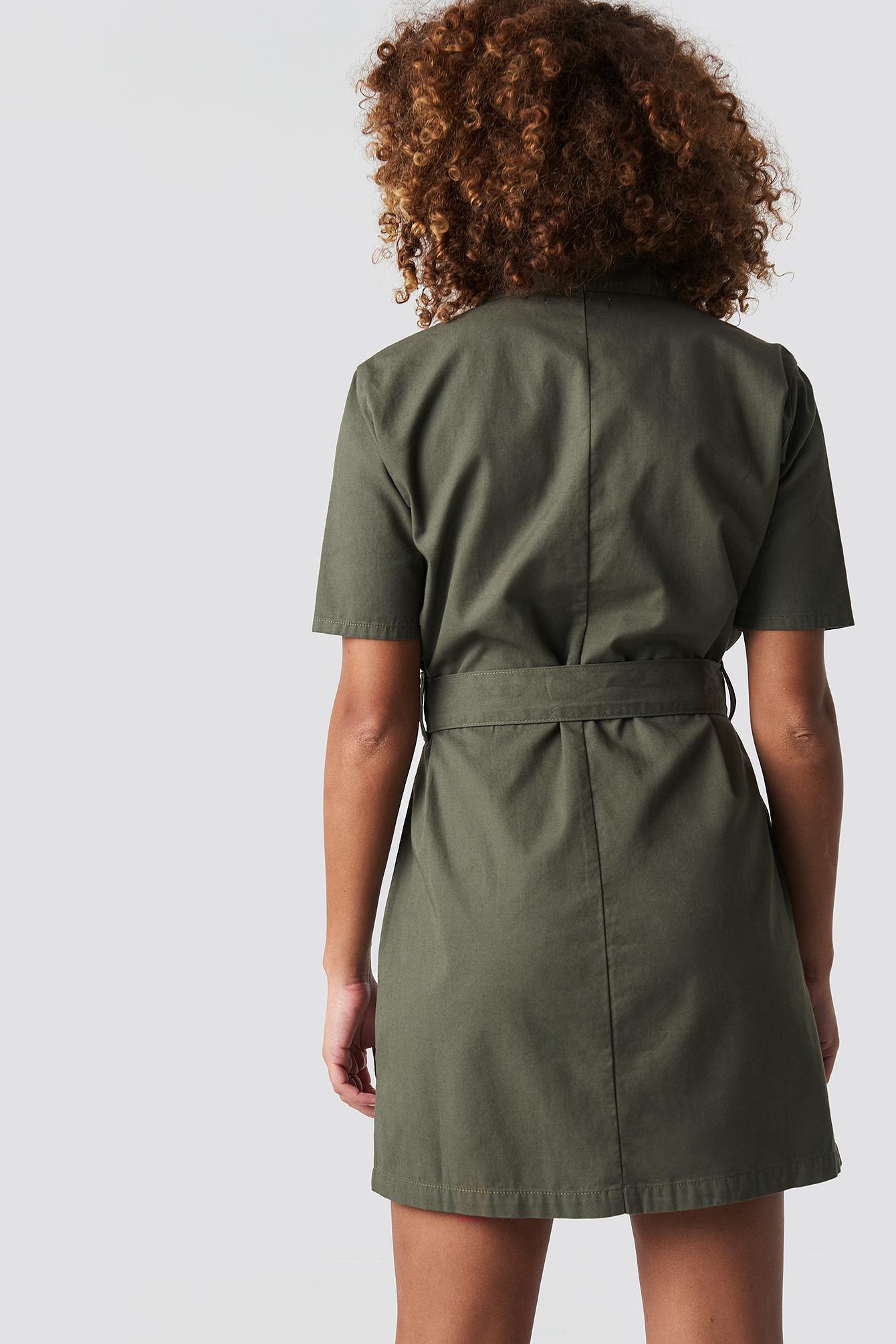 Belted Cargo Mini Dress NA-KD.COM