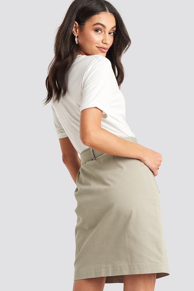 Belted Cargo Pockets Mini Skirt Sand