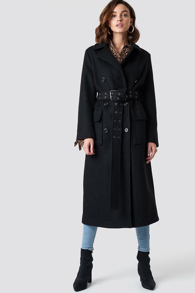 Płaszcz z paskiem NA-KD.COM