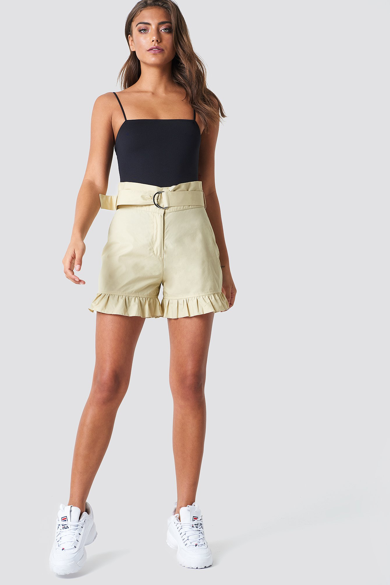 Belted Cotton Shorts NA-KD.COM