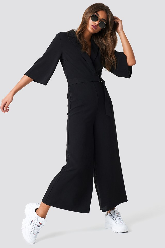 Belted Cropped Jumpsuit NA-KD Trend