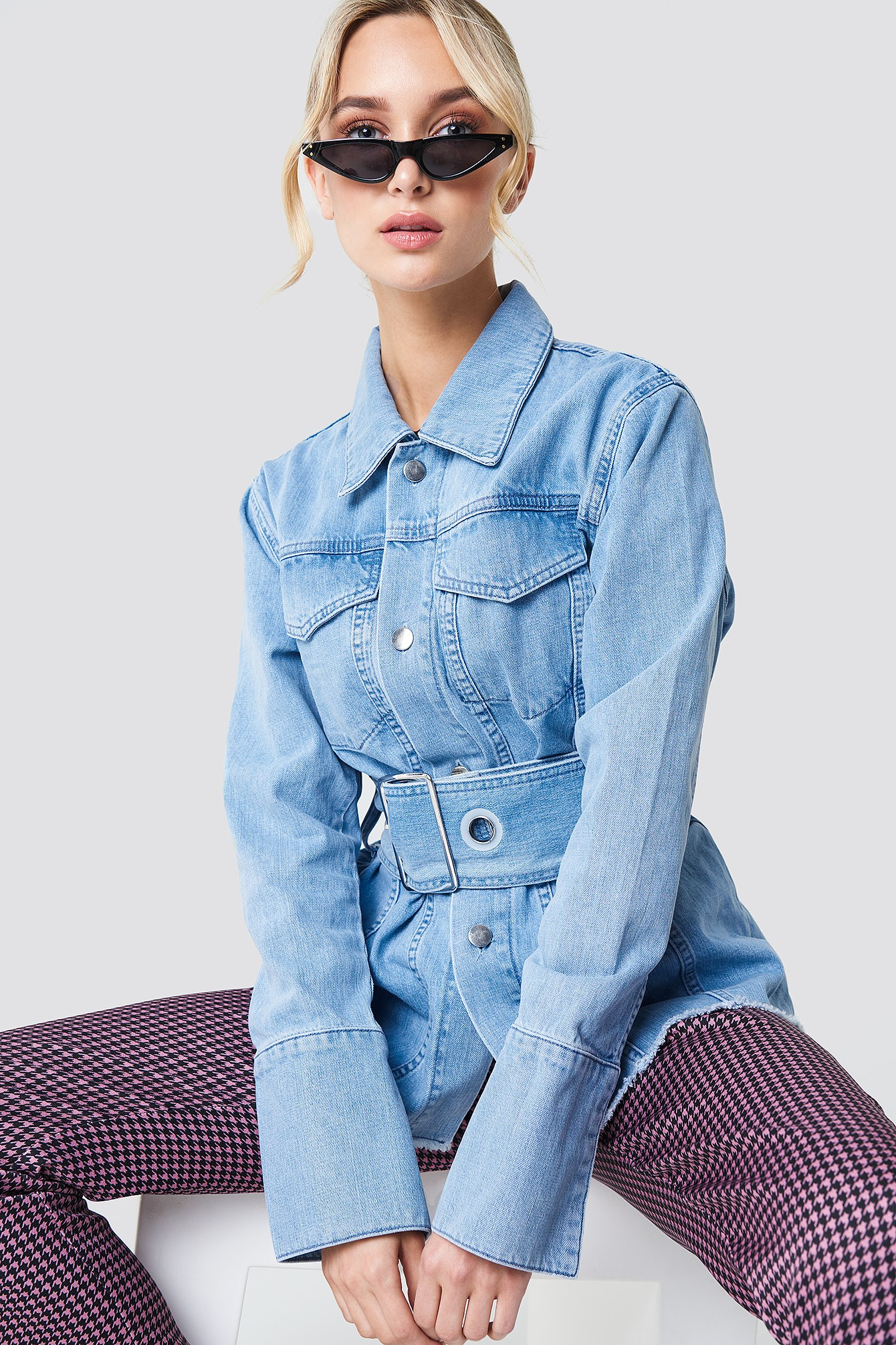 Belted Denim Jacket NA-KD.COM
