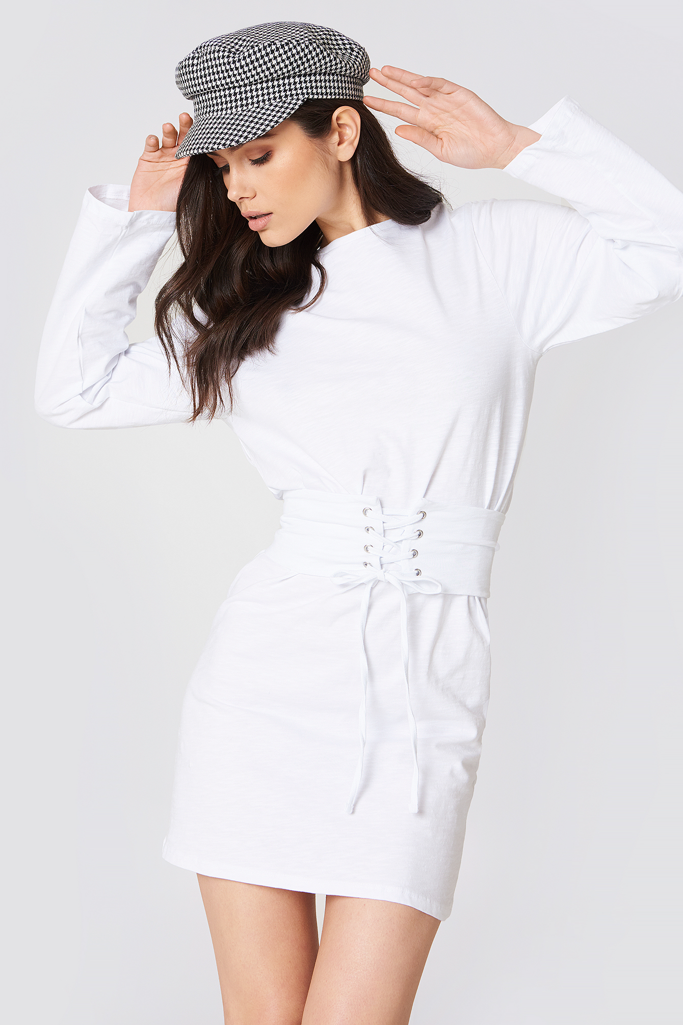 na-kd -  Belted Detail Dress - White