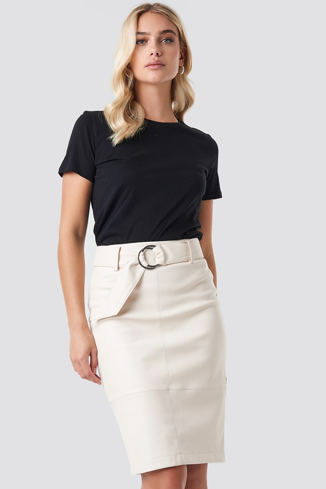 Belted Midi Skirt NA-KD.COM