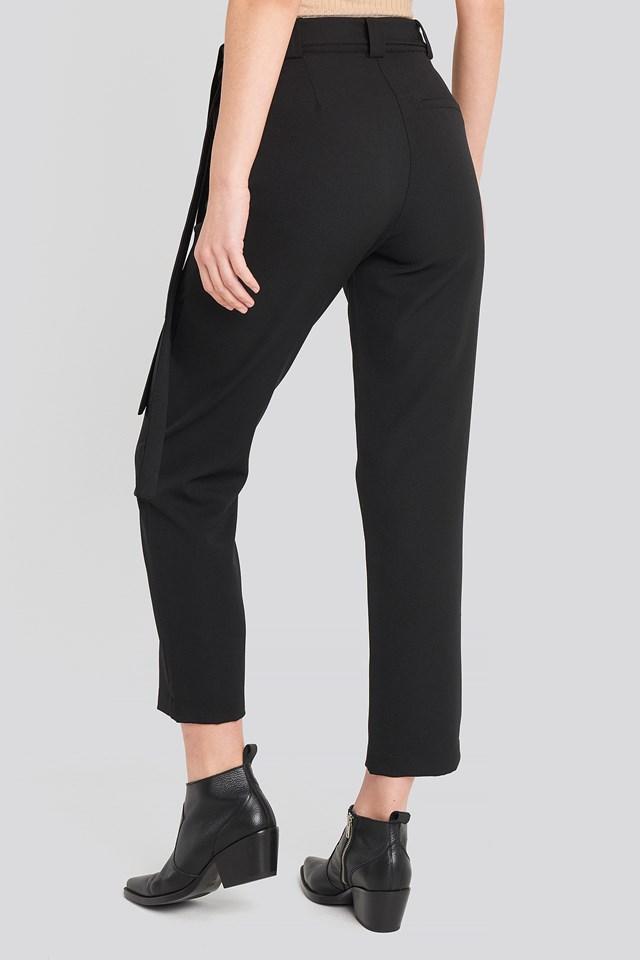 Belted Pants Black