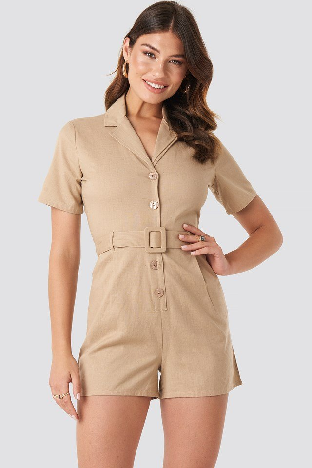 Belted Playsuit NA-KD
