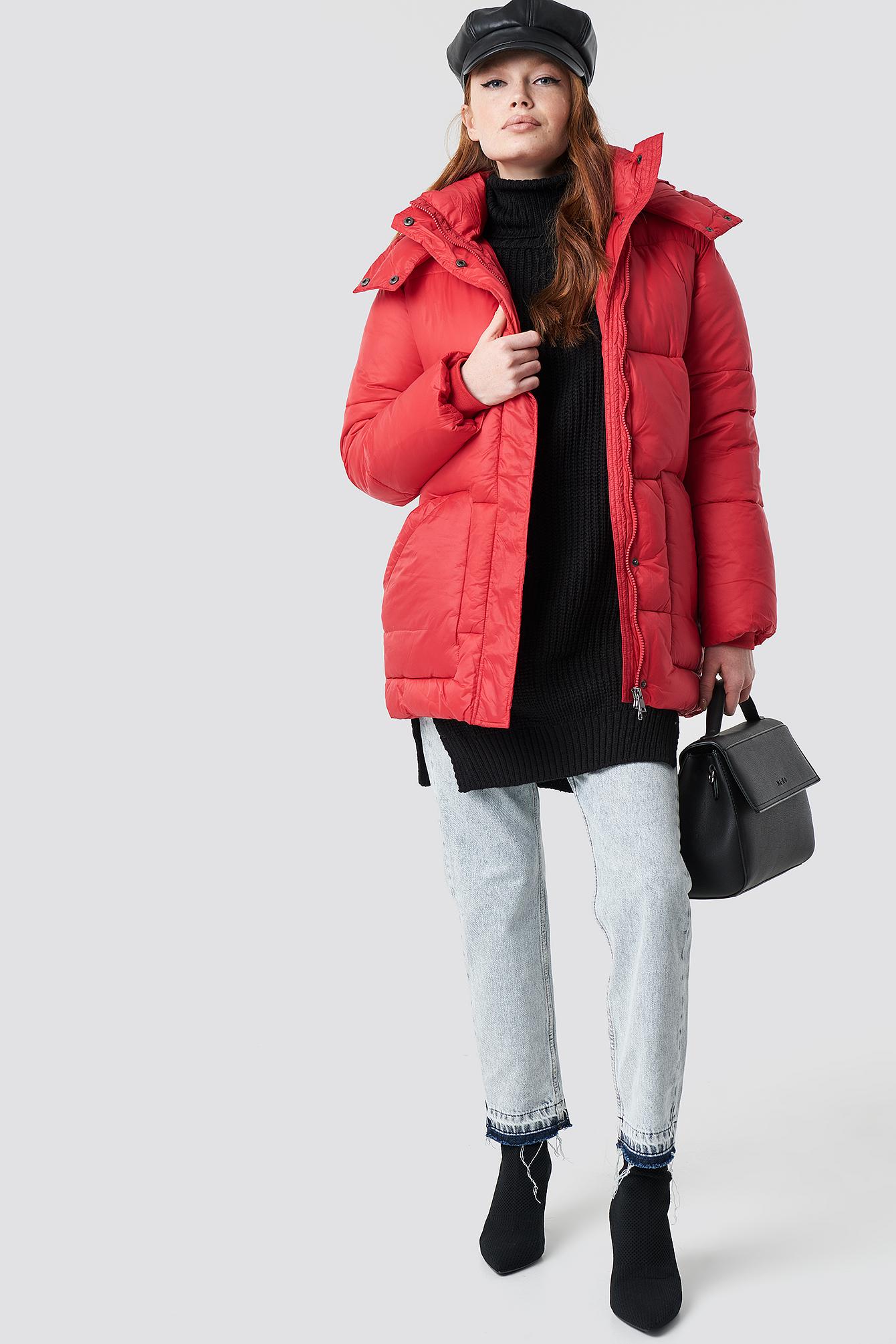 Belted Puff Jacket NA-KD.COM