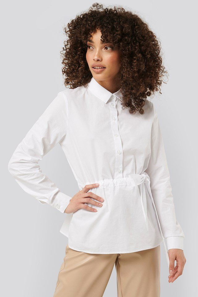 Belted Shirt White