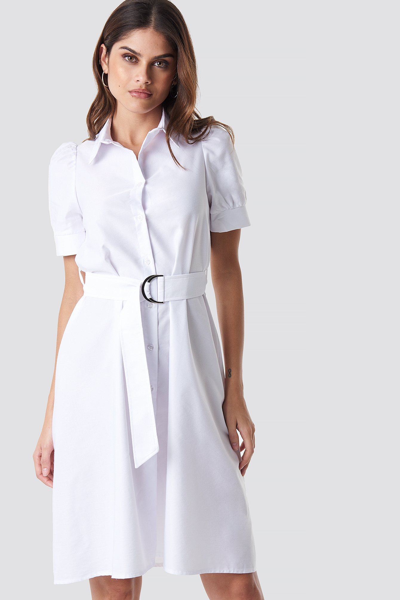 Belted Shirt Dress NA-KD.COM