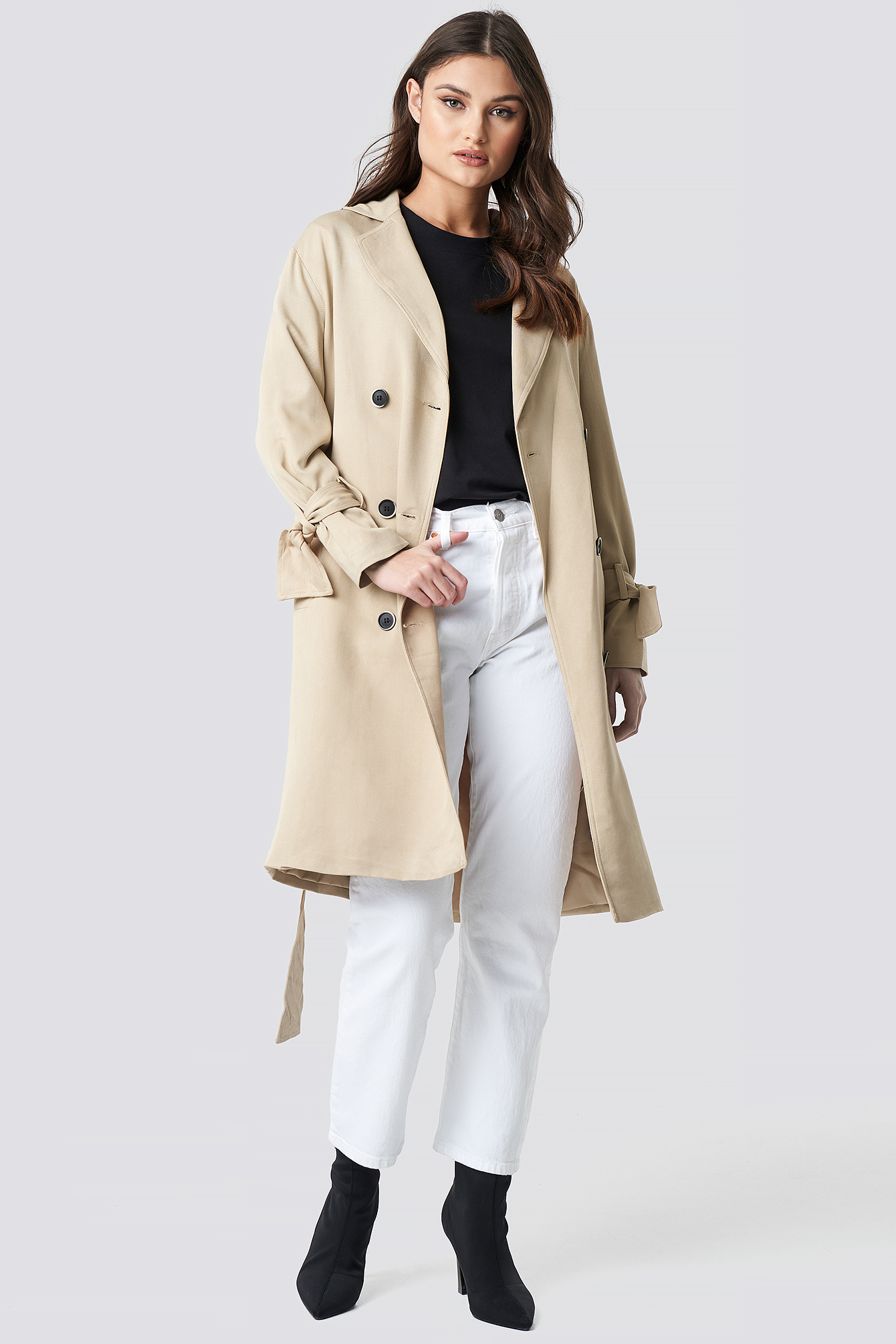 na-kd -  Belted Trench Coat - Beige