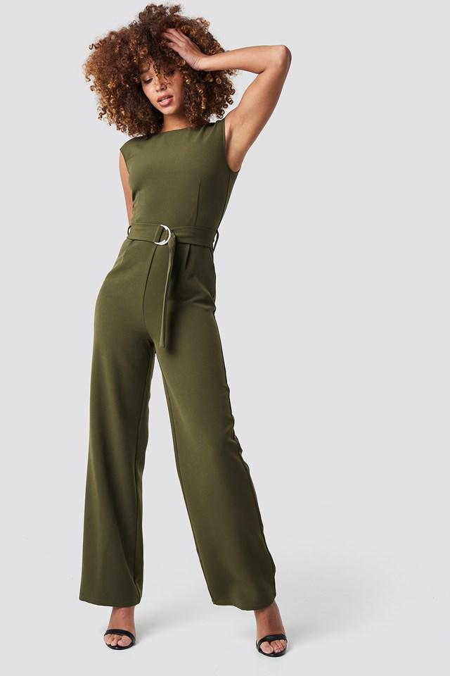 Belted Waist Jumpsuit NA-KD.COM