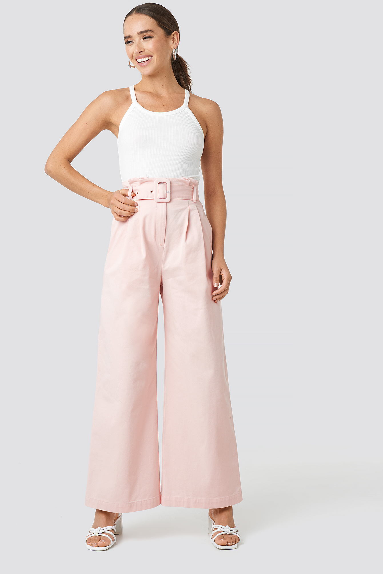Belted Wide Leg Trousers NA-KD.COM