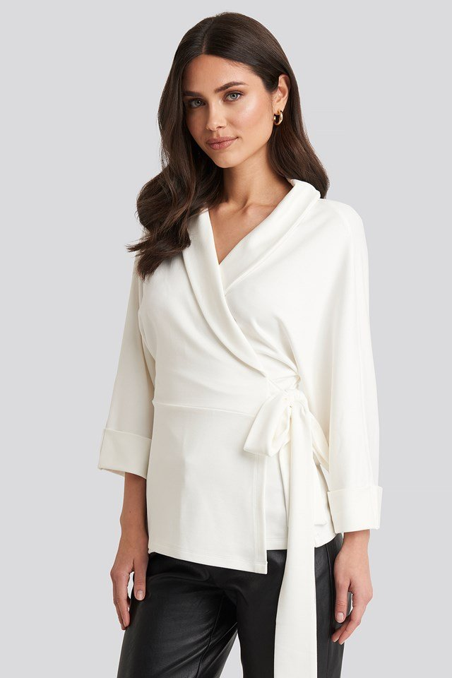 Belted Wrap Lounge Jacket Off White