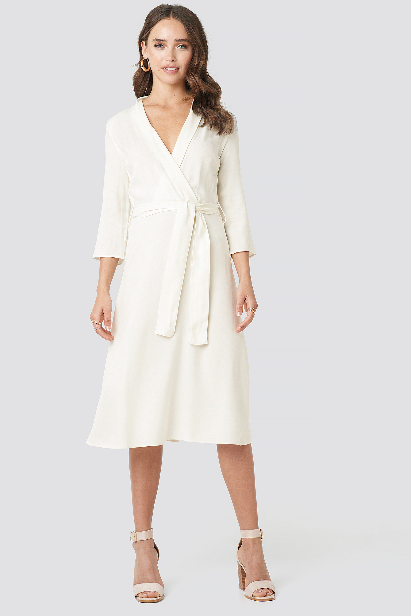 Belted Wrap Midi Dress NA-KD.COM