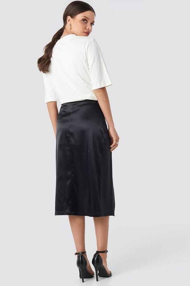 Belted Wrap Midi Skirt NA-KD.COM