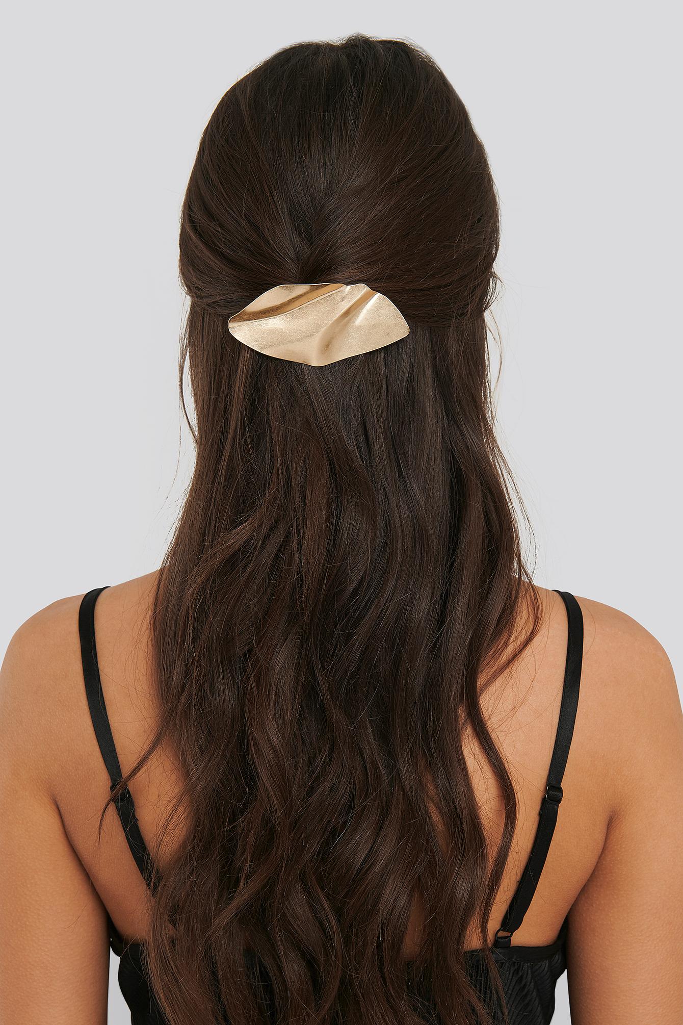 Na-kd Bended Metal Hair Clip - Gold