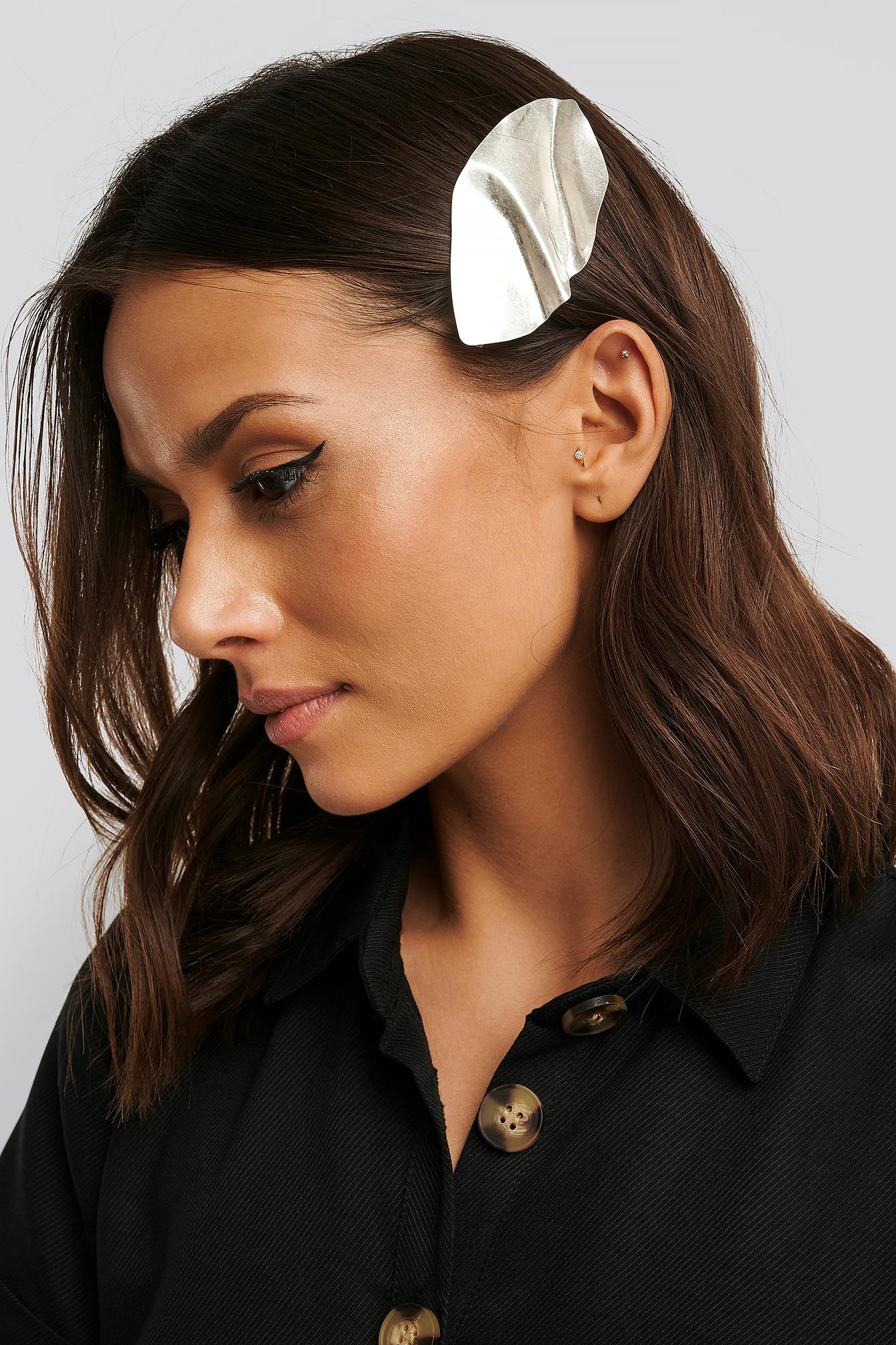 na-kd accessories -  Haarspange Aus Gebogenem Metall - Silver