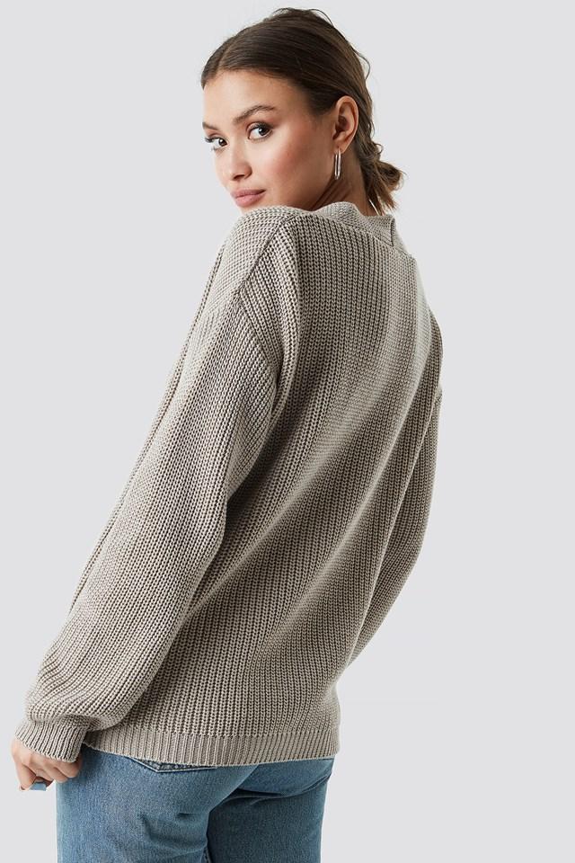 Big Button Knitted Cardigan NA-KD.COM