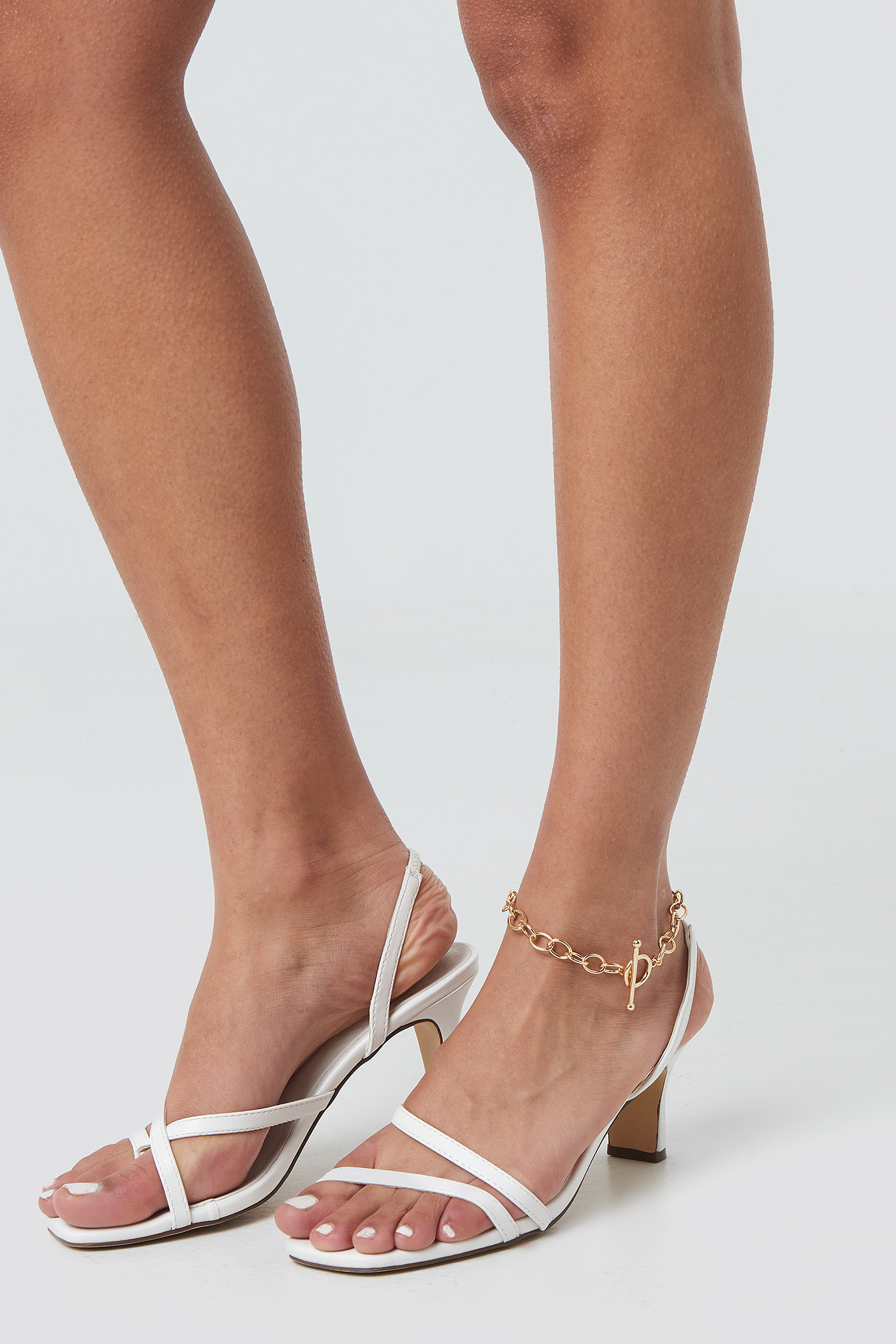 na-kd accessories -  Big Chain Ankle Bracelet - Gold