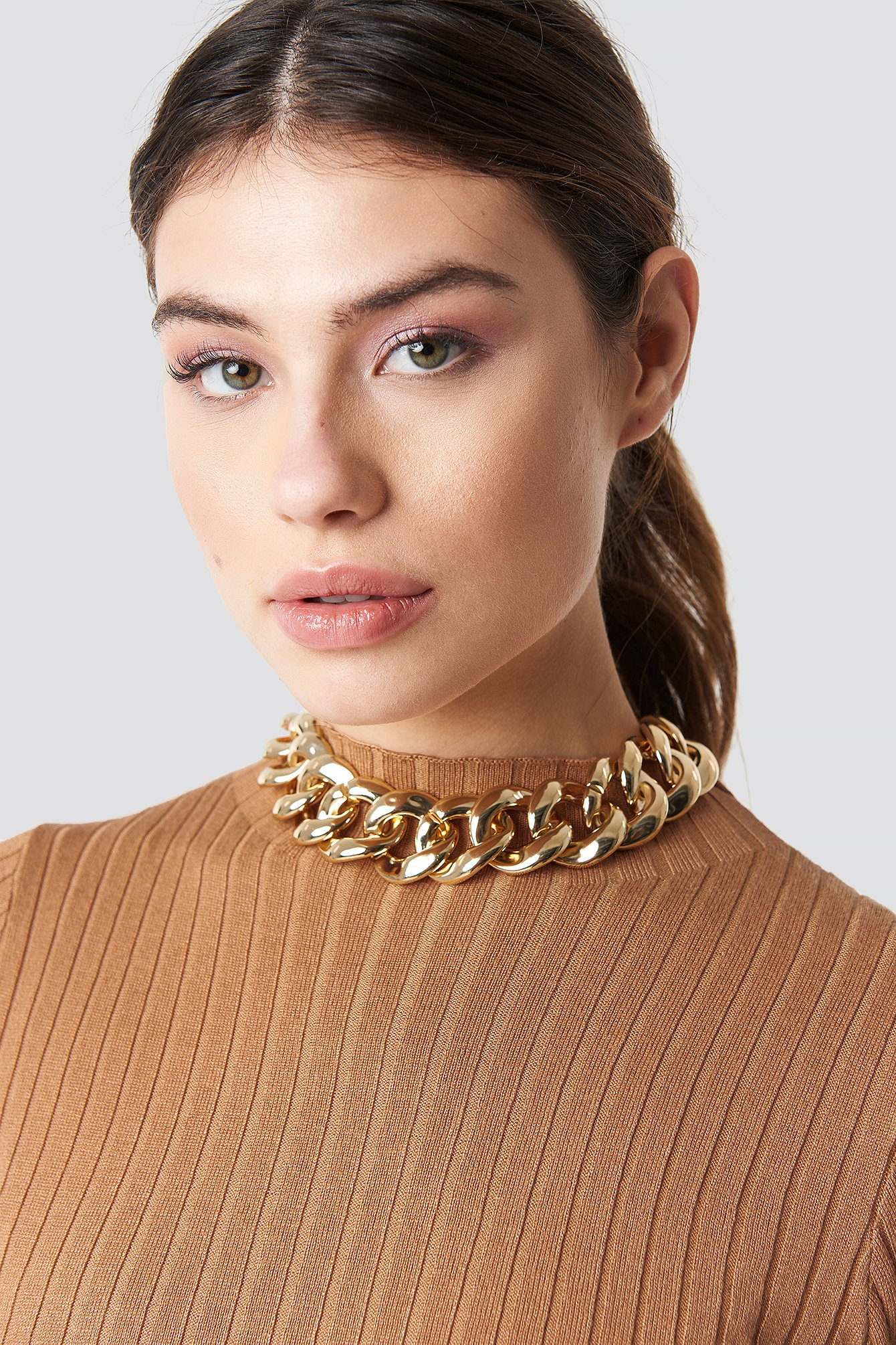 na-kd accessories -  Big Chain Necklace - Gold