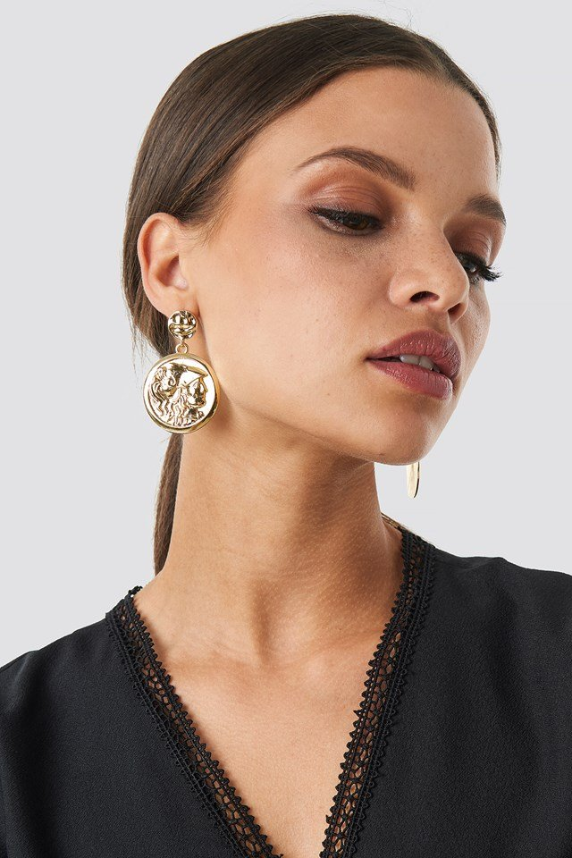 Big Coin Earrings Gold