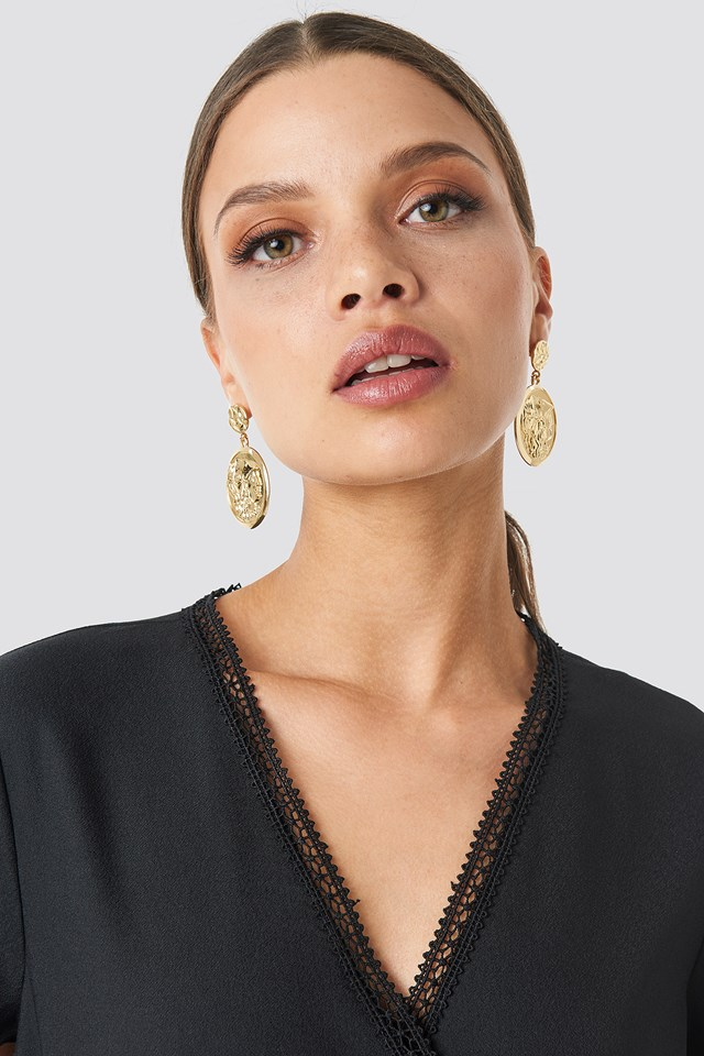 Big Coin Earrings NA-KD Accessories