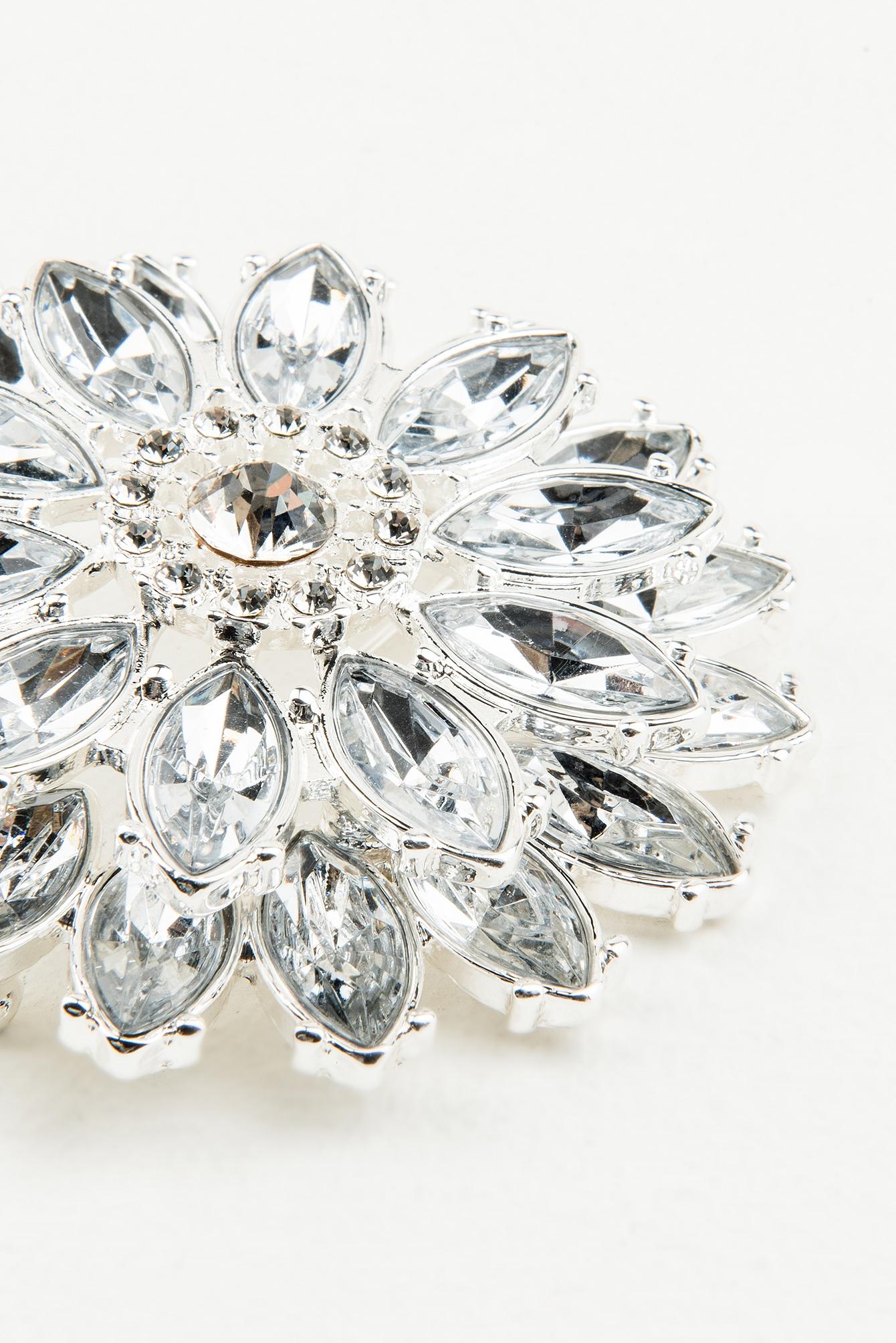 Big Crystal Marquise Flower Brooch NA-KD.COM