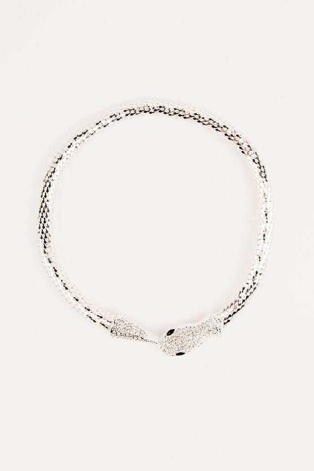 Big Crystal  Snake Necklace NA-KD.COM