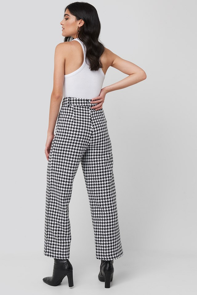 Big Dogtooth Trousers Black/White