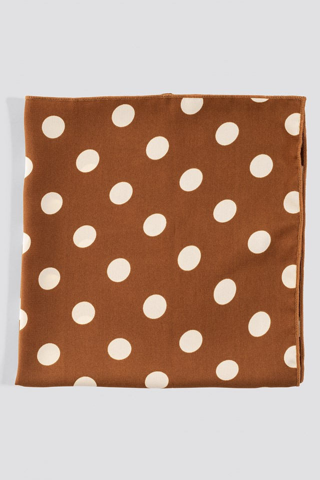 Big Dotted Satin Scarf Dots
