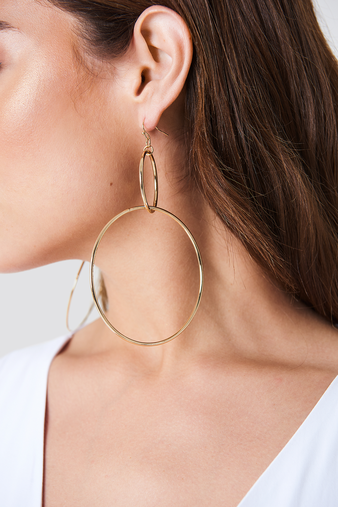 Big Double Ring Earrings NA-KD.COM