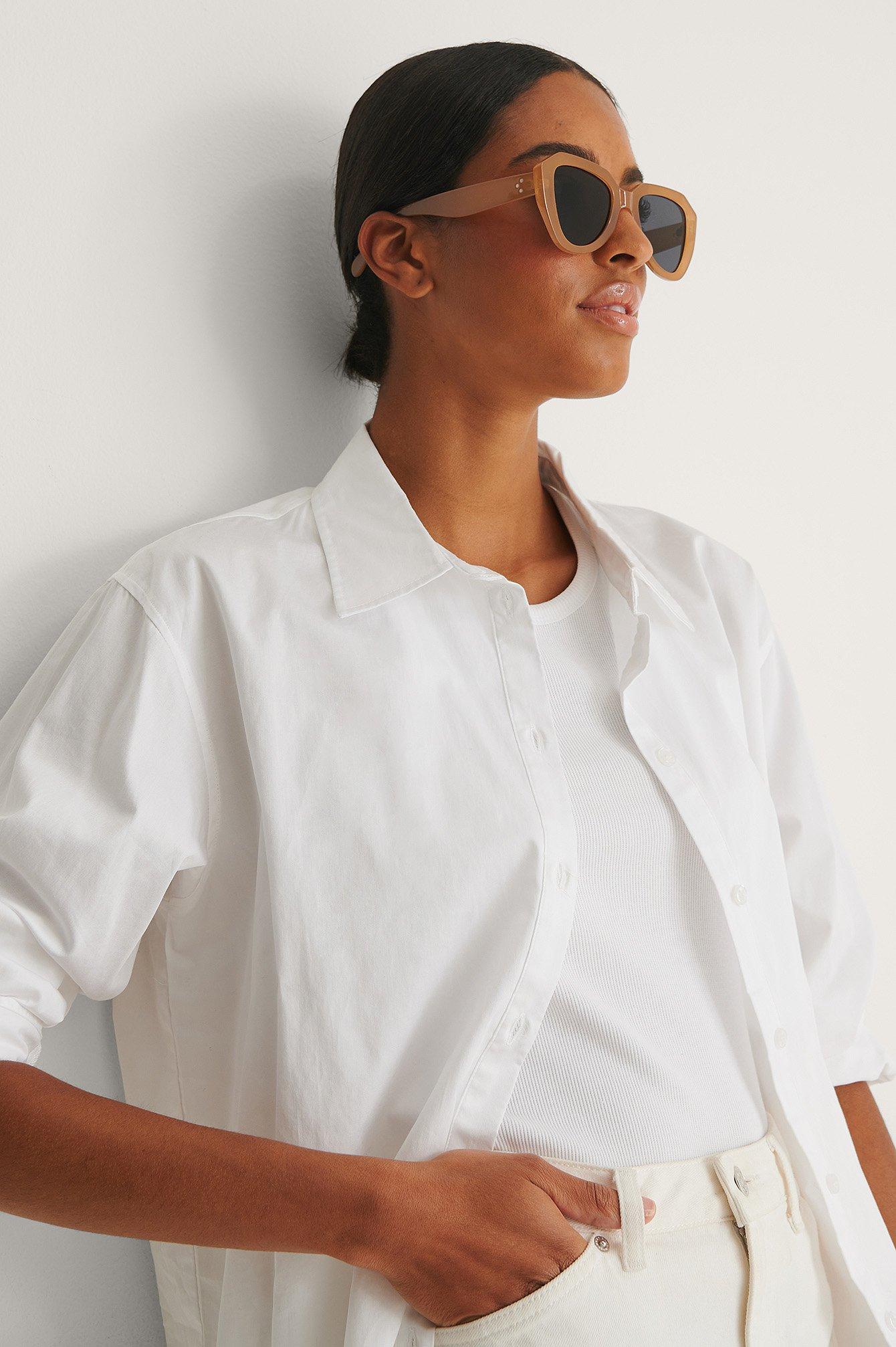 na-kd accessories -  Sonnenbrille - Beige