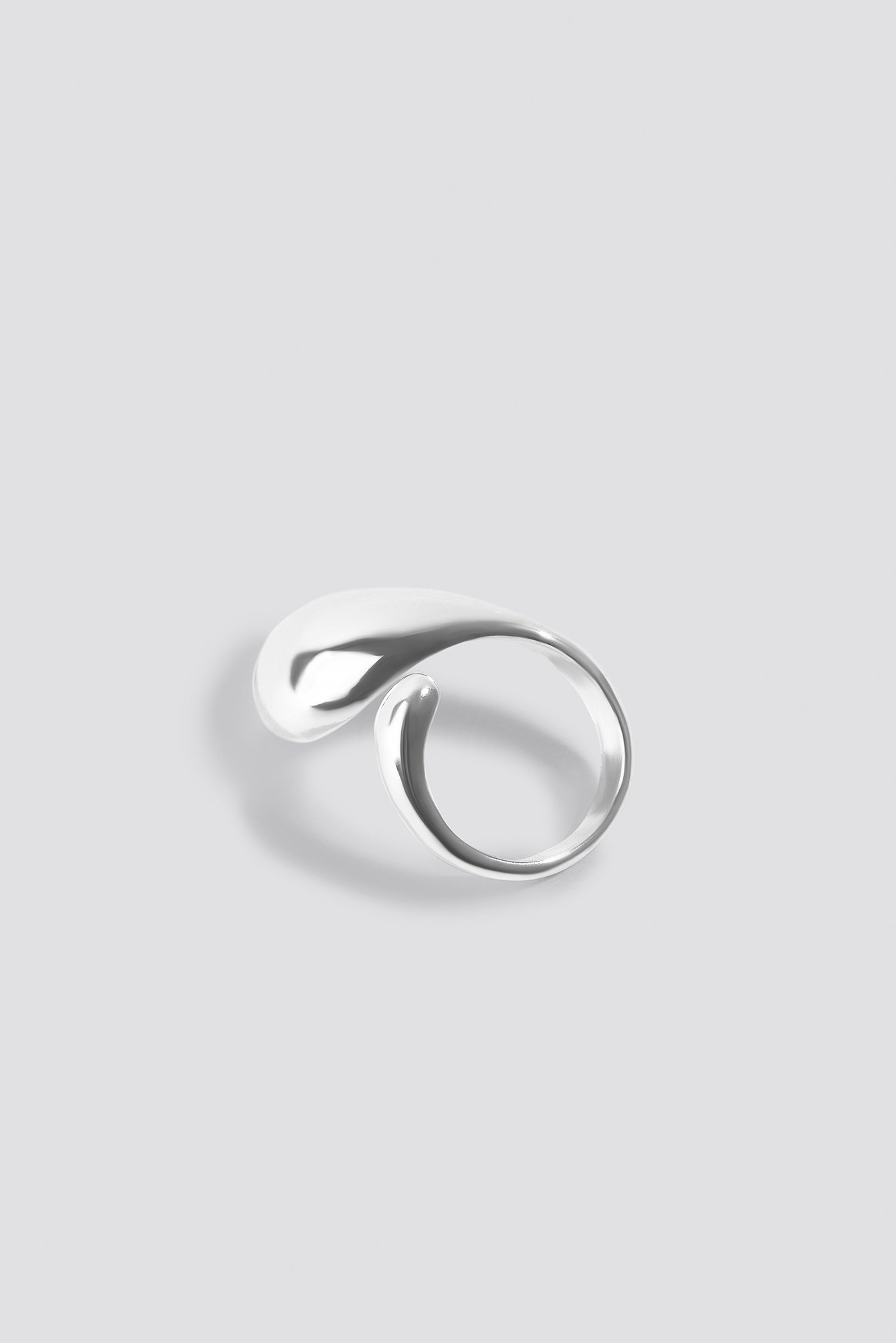 Silver Big Drop Ring