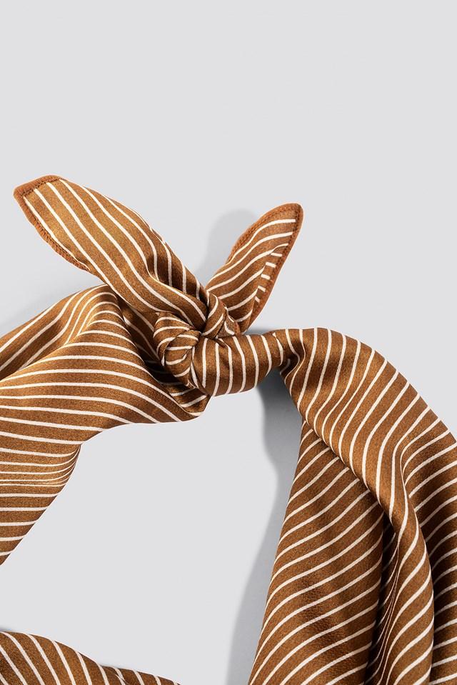 Big Fine Striped Satin Scarf Striped