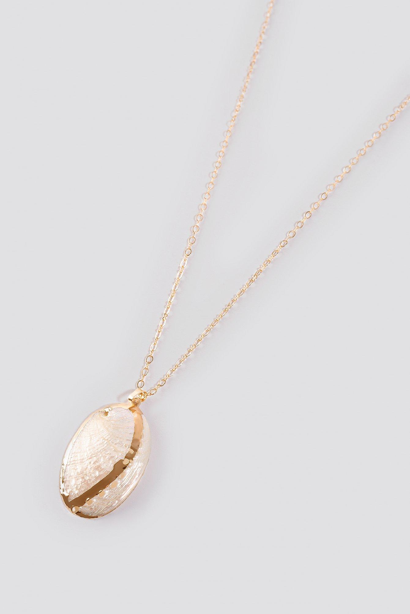 Big Flat Shell Necklace NA-KD.COM