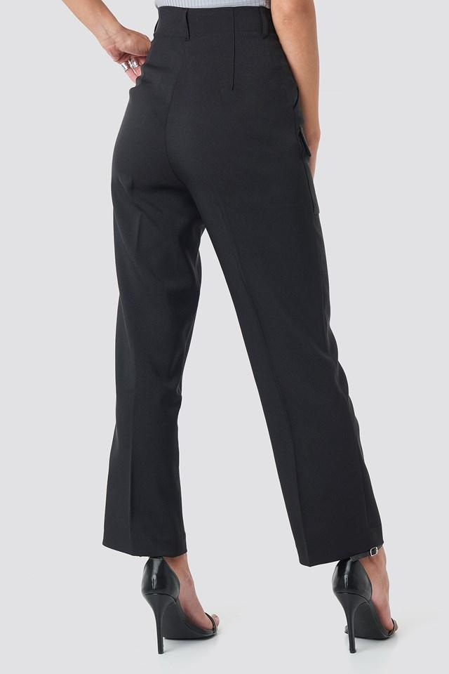 Big Front Pocket Pants Black