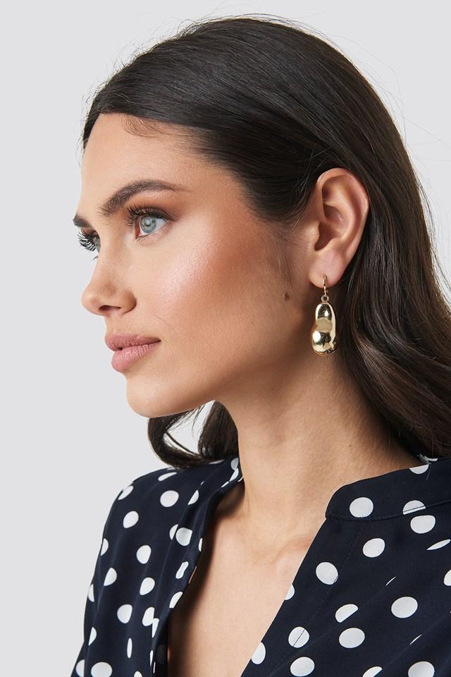 Big Golden Pearl Earrings NA-KD.COM