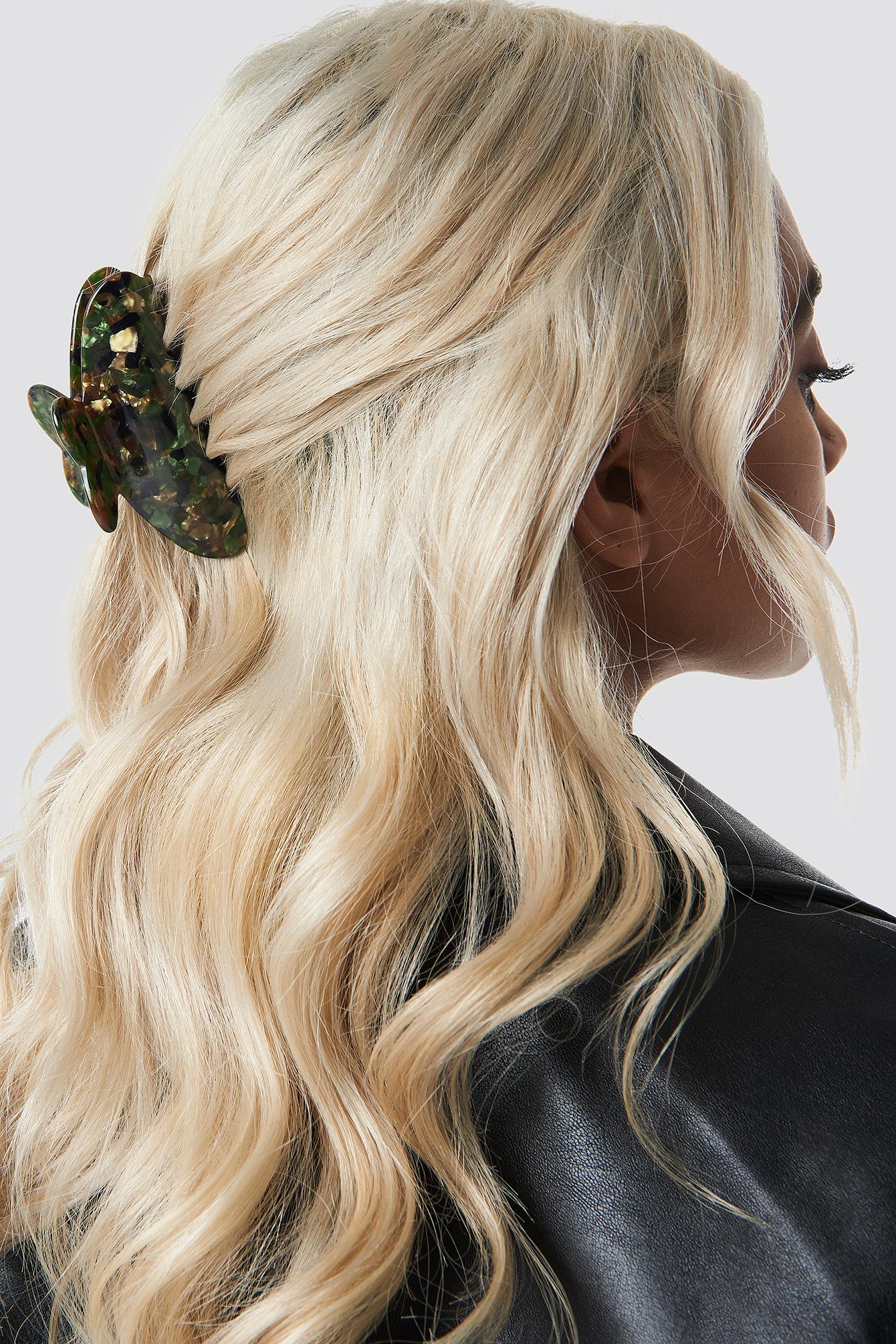 Big Green Resin Hair Clip NA-KD.COM