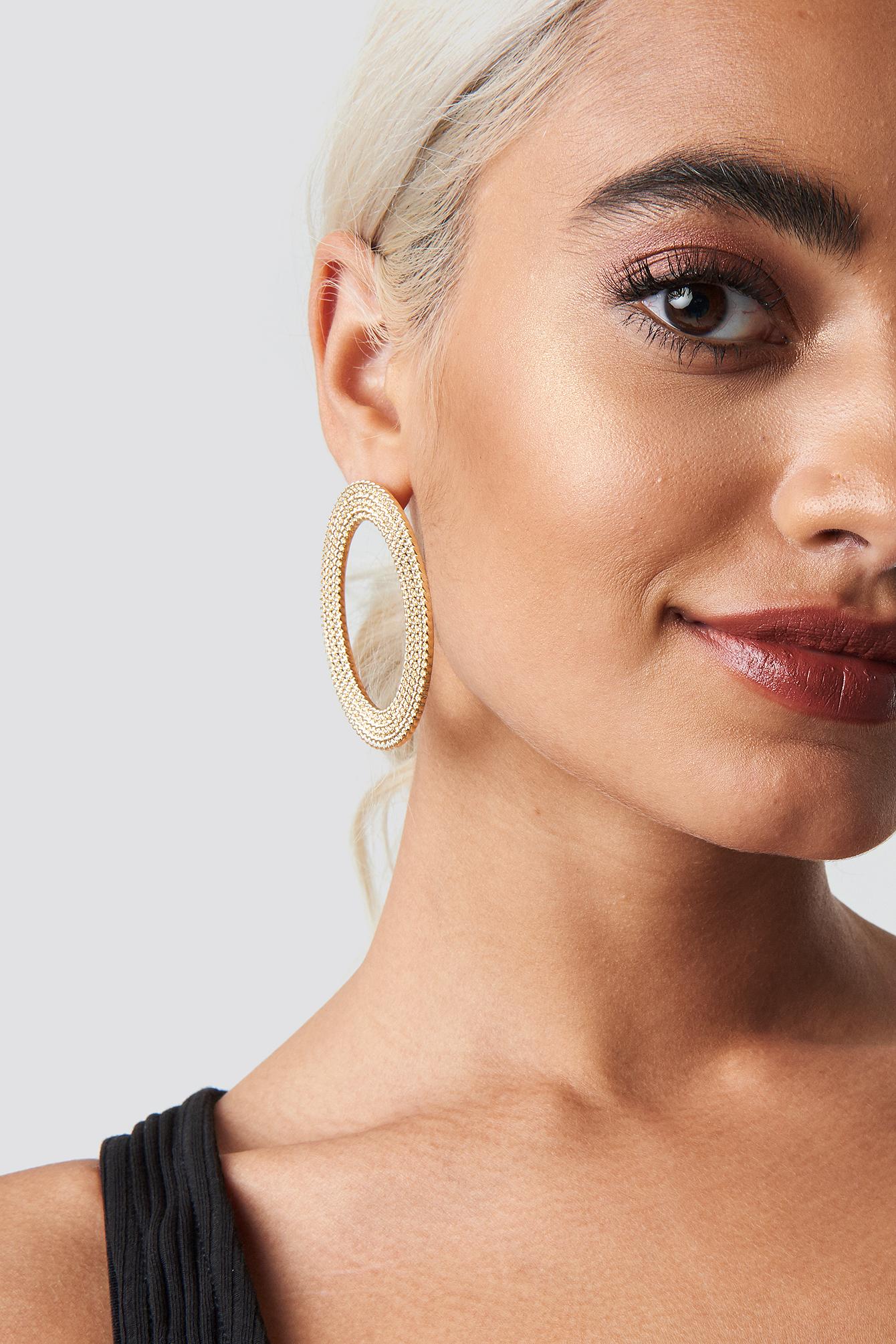 Big Oval Chain Look Earrings NA-KD.COM