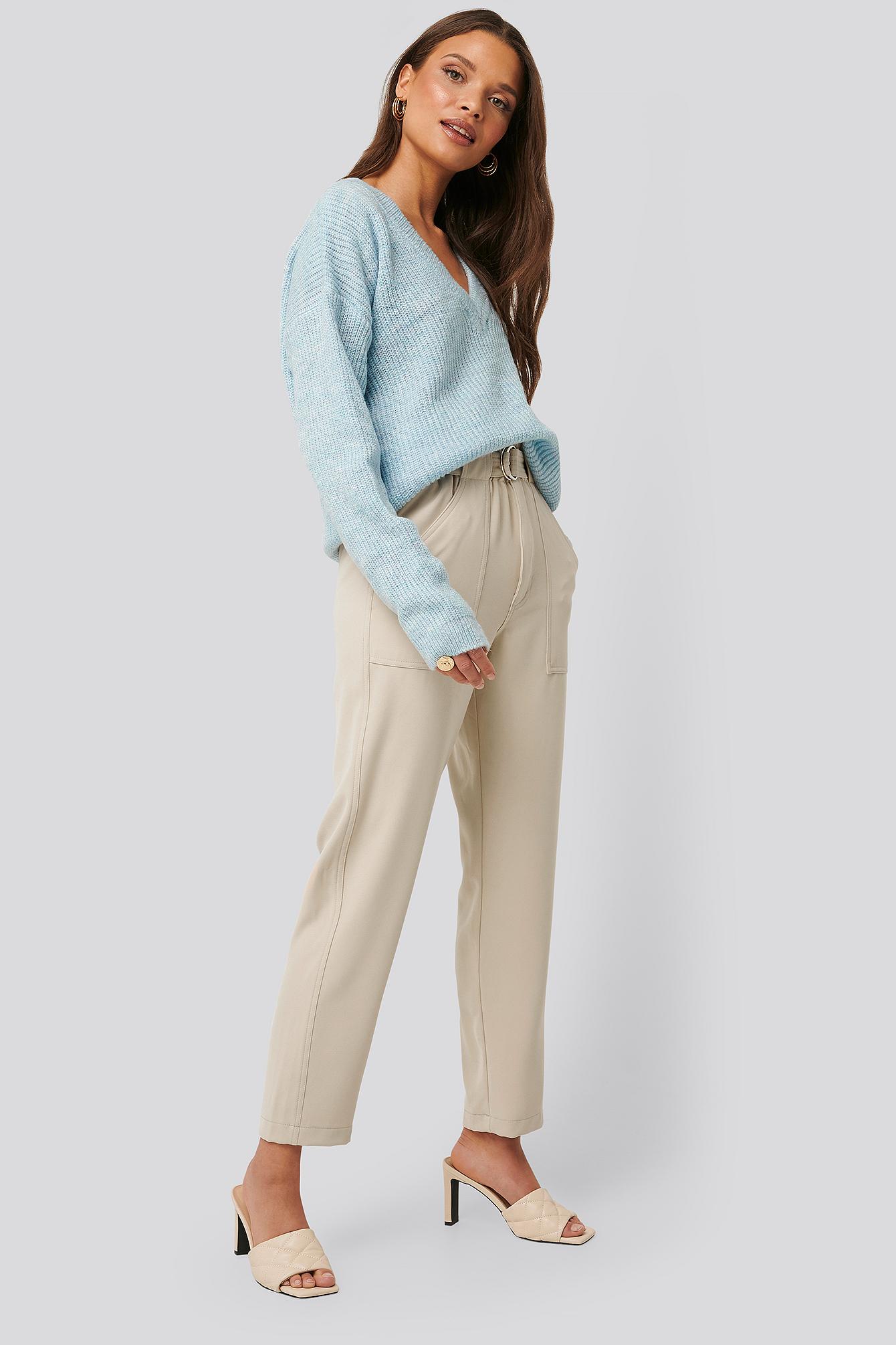 na-kd -  Taschendetail Anzughose - Beige