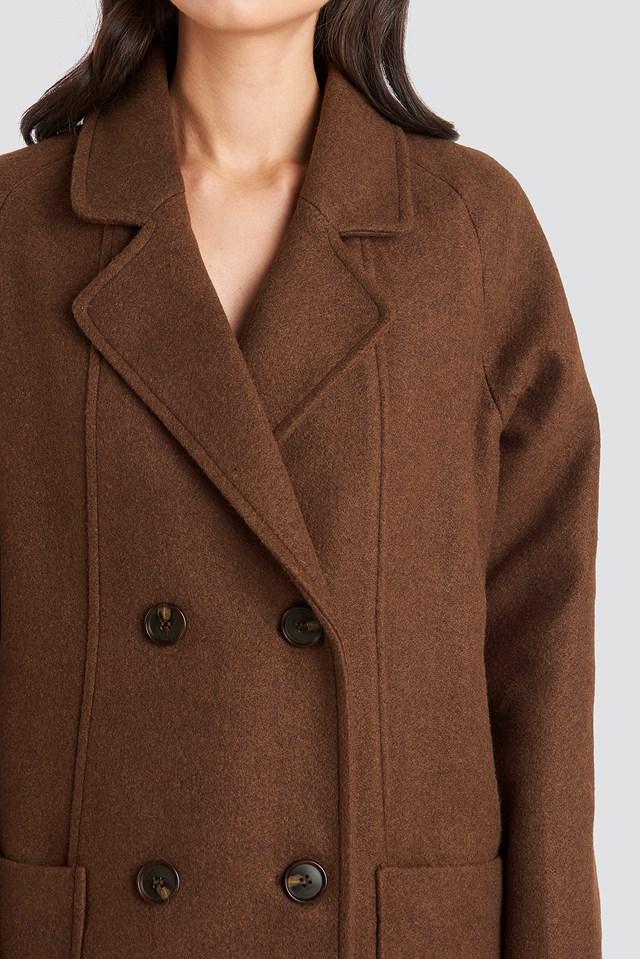 Big Pocket Coat Brown