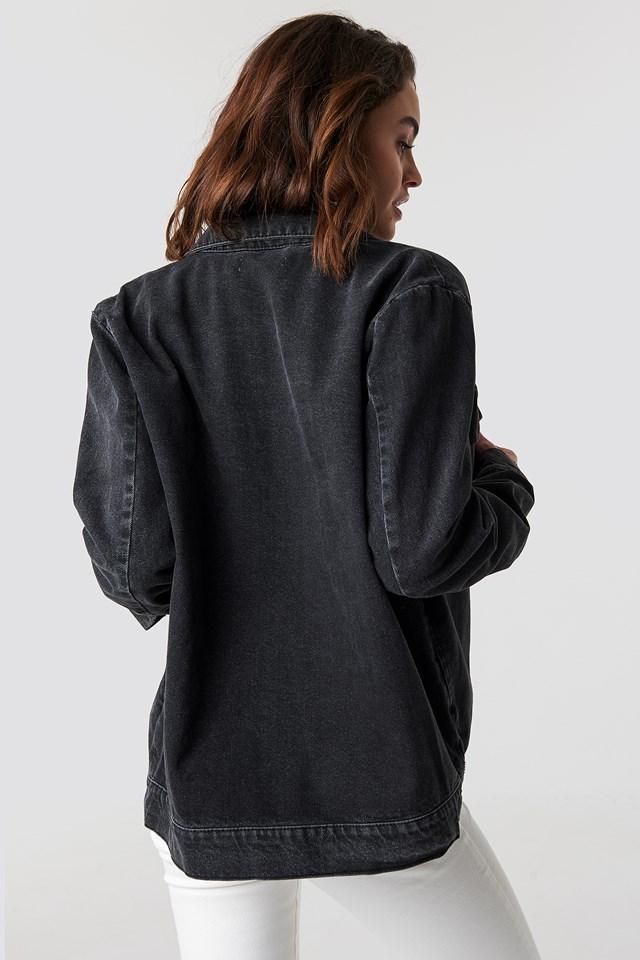 Big Pocket Denim Jacket Black
