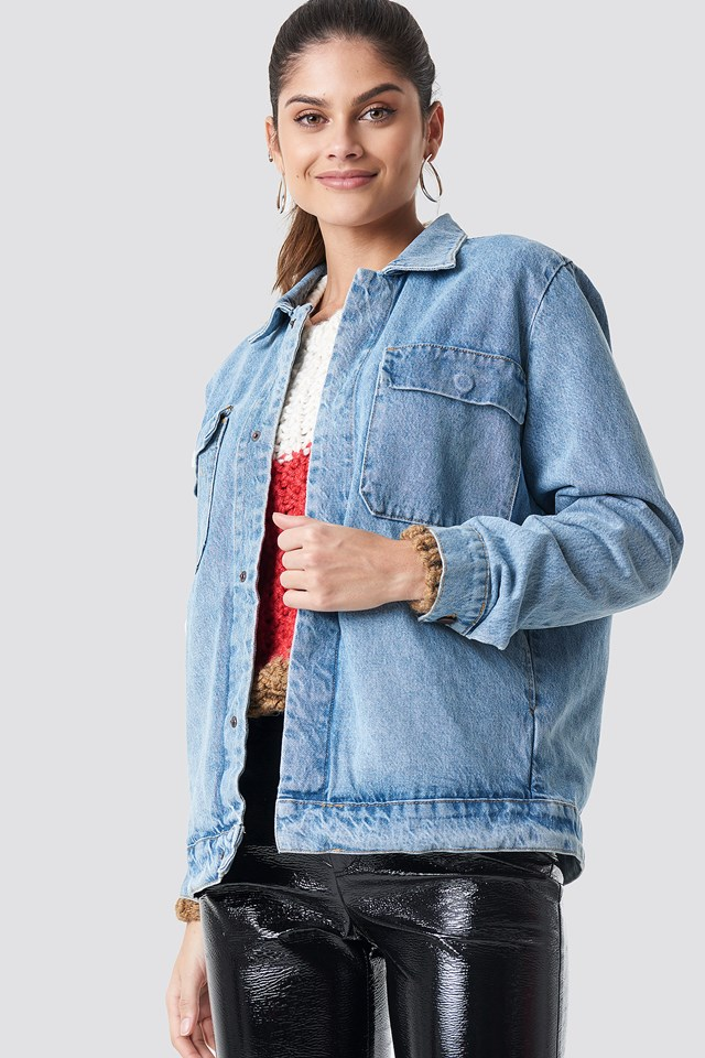 Big Pocket Denim Jacket NA-KD