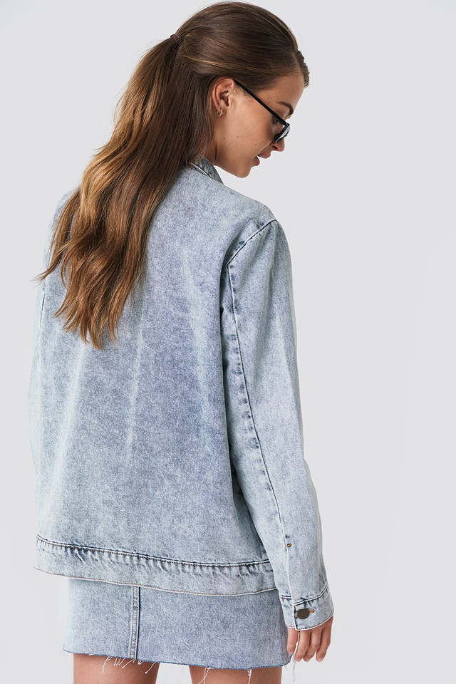 Big Pocket Denim Jacket Stone Blue