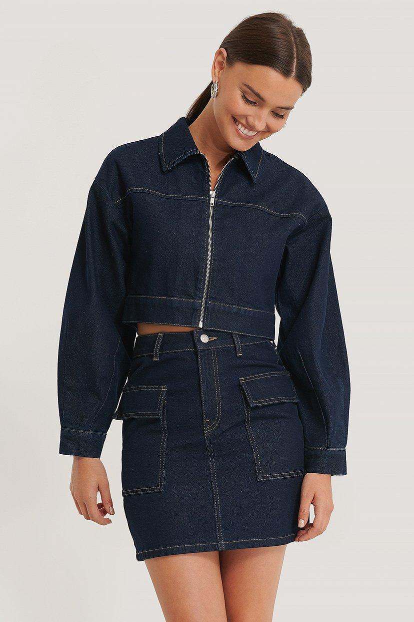 NA-KD Trend Rock Mit Großen Taschen - Blue | Bekleidung > Röcke > Sonstige Röcke | NA-KD Trend